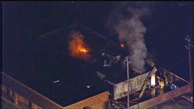 The fire was reported at 5:39 a.m. Friday not far from Ellington Airport.