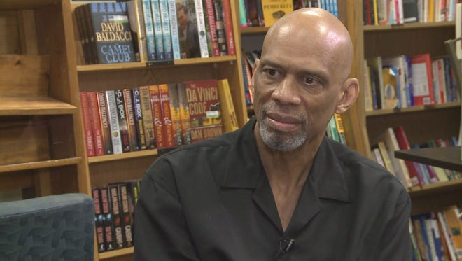 Kareem Abdul-Jabbar stopped in the Valley Sunday to promote his new book.