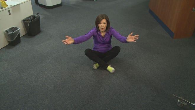Kay Quinn demonstrates the Sitting Rising Test