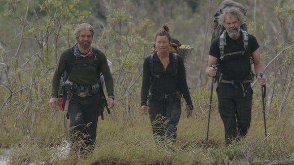 """Scott """"Cluck"""" McCleskey, left and Team Lower 48 from """"Ultimate Survival Alaska."""""""