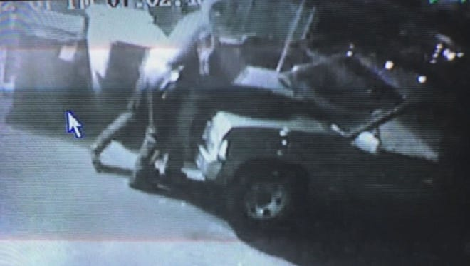 Image from video taken when Martin Del Agua was arrested by Sacramento County sheriff's deputies. The arrest and subsequent illegal detention of Del Agua, an undocumented immigrant, prompted a lawsuit.