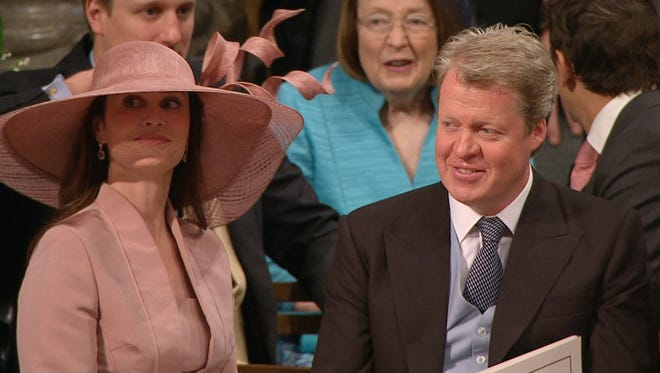 Princess Diana's brother, Charles, Earl of Spencer, at Westminster Abbey for the wedding of Prince William and Kate Middleton in April 2011.