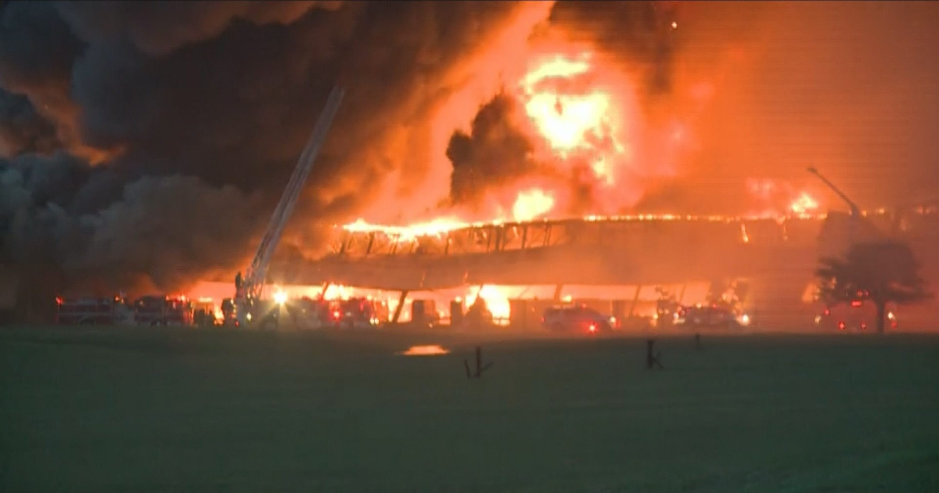 Fire At Ge Plant Contained But Will Continue Burning