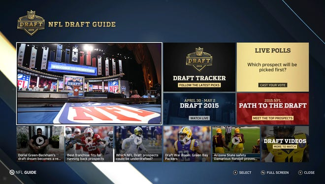 Another way to keep up with the draft is with the NFL Draft App and Draft Tracker on XBox One.