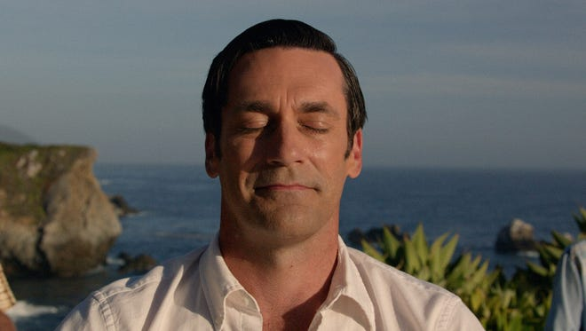 Jon Hamm as Don Draper finds peace in the series finale of 'Mad Men.'