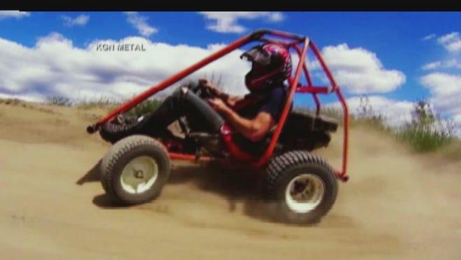 Go-kart riding