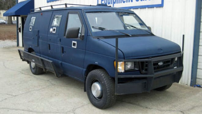 The pre-owned blue armored van used in Saturday's assault on Dallas police headquarters was purchased online.