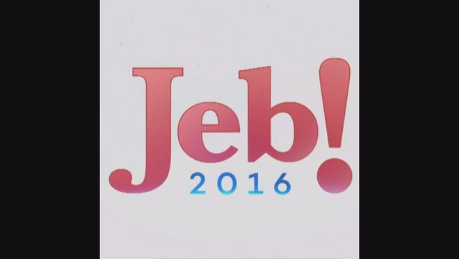 The enthusiastic Jeb! 2016 banner was unveiled on Twitter ahead of the campaign's official launch Monday.