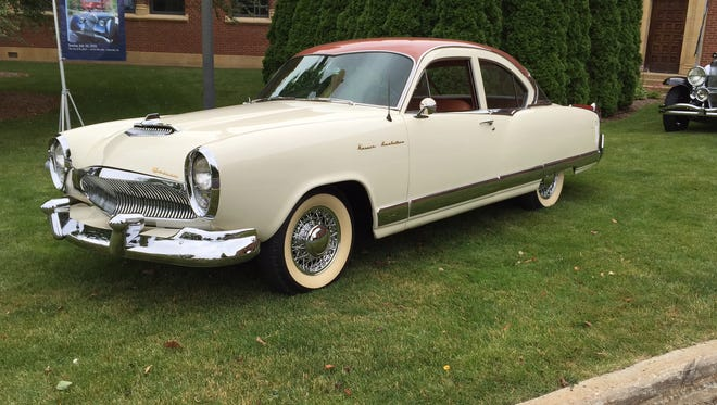 """This 1955 Kaiser Manhattan coupe will be part of the """"Auto Show '55"""" tribute to a peak year for car design."""