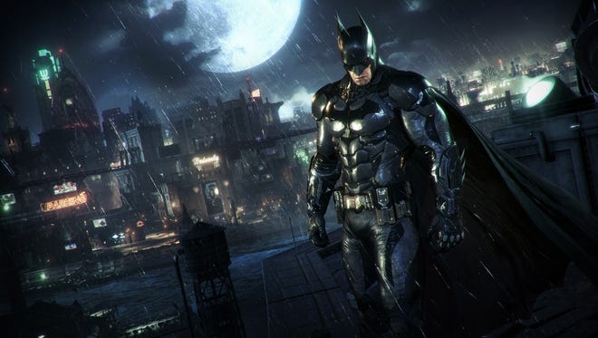 Batman returns to face a mysterious new foe in the open-world action game Batman: Arkham Knight.