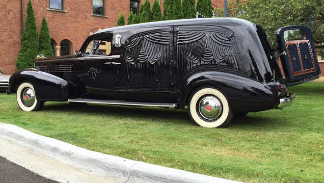 This 1937 LaSalle hearse is one of the stars ta the Concours d'Elegance of America, Sunday, July 26.