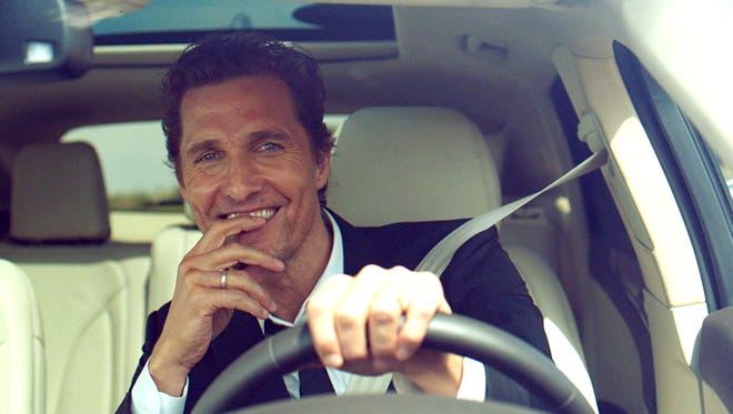 Actor Matthew McConaughey will appear in a new ad campaign this fall for the Lincoln MKX mid-size crossover. He is shown here in an MKC. crossover.