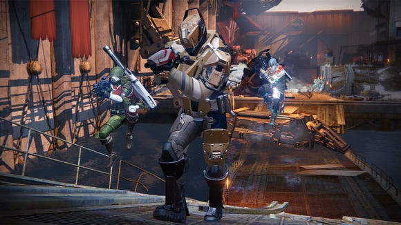 A scene from the action game 'Destiny: The Taken King.'