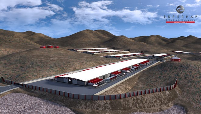 A rendering of Switch's SUPERNAP Tahoe Reno Industrial Campus, which will be the biggest data center in the world once finished.