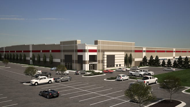 RED Architecture rendering of distribution center Park 536 to be built in Independence.