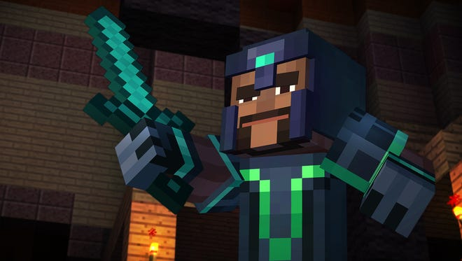 "Legendary hero Gabriel, no relation to Peter Gabriel, is a character in ""Minecraft Story Mode Episode 1: Order of the Stone."""