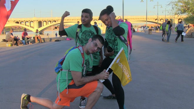 After a quick costume change Team BadA** feels proud of all they accomplished during the Cotopaxi Questival at Tempe Beach Park on Nov. 7, 2015.