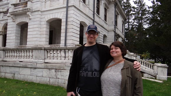 Me and my boyfriend, Carl, at Swannanoa in the fall