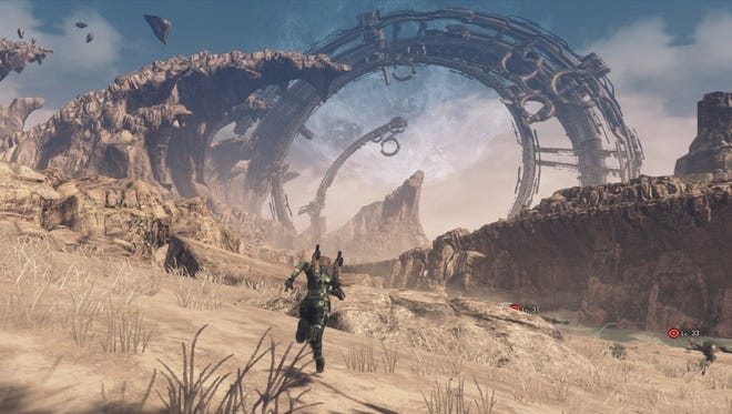 Xenoblade Chronicles X for the Wii U features sprawling vistas.