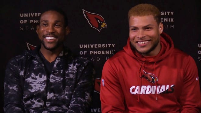 Patrick Peterson and Tyrann Mathieu sit down for an interview with Dan Bickley at the Cardinals training complex in Tempe.