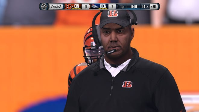 Digital Marvin Lewis watches Brock Osweiler put on a show.