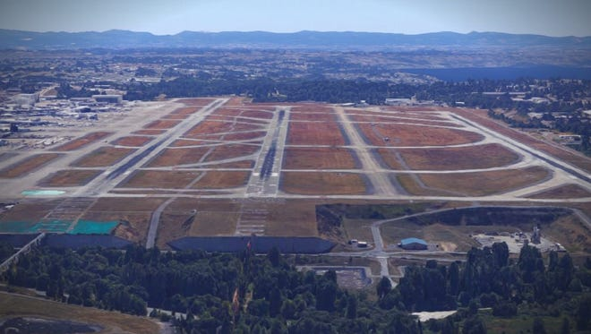Runways and taxiways at Sea-Tac International Airport.