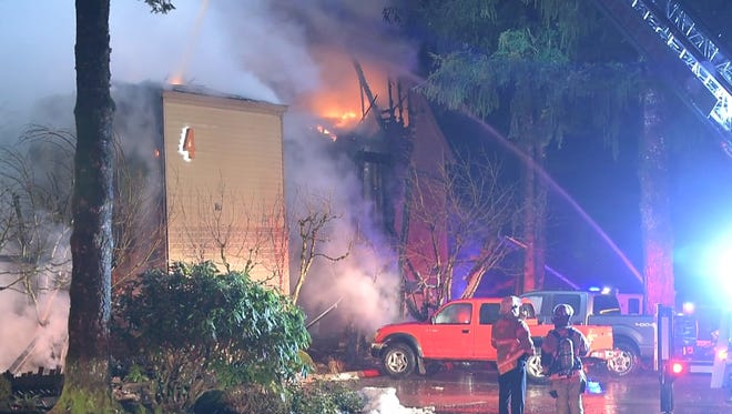 Fire engulfs rooms at Welches resort.