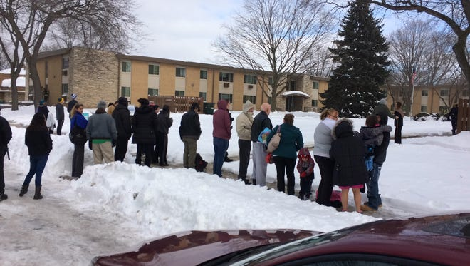 About 50 people were evacuated from a 68-unit apartment on Green Bay's east side Monday afternoon.