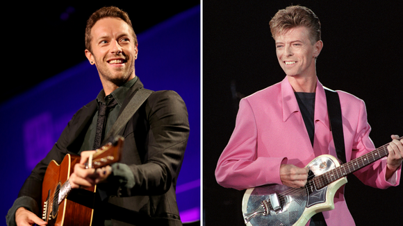 Chris Martin and David Bowie, almost-collaborators.