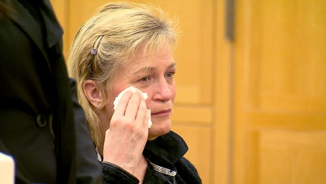 Kathy Dymes makes an appearance at the Westchester County Courthouse in White Plains, pleading guilty  on Jan. 19, 2016. to negligent homicide in the death of her 6-year-old daughter, Lacey Carr.