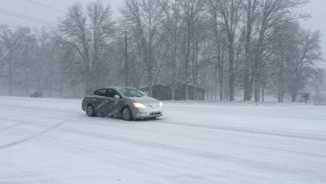 Greenbrier road conditions on Friday morning.