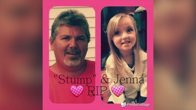 """Michael """"Stump"""" Dale (left) and Jenna Dale died in a house fire on Wednesday."""
