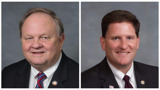 Reps. Chuck McGrady and Chris Whitmire