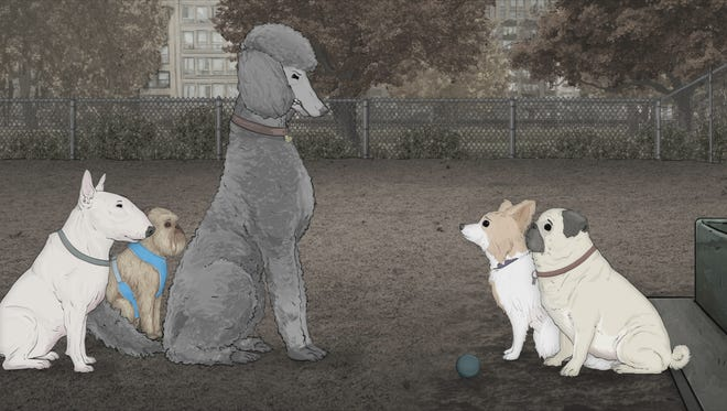 "A scene from the ""Dogs"" episode of HBO's ""Animals."""