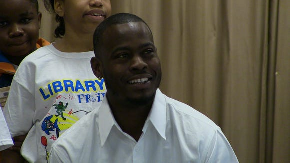 Montgomery native Tarvaris Jackson participated in event Monday morning at MacMillan Elementary as part of Read Across America Week.
