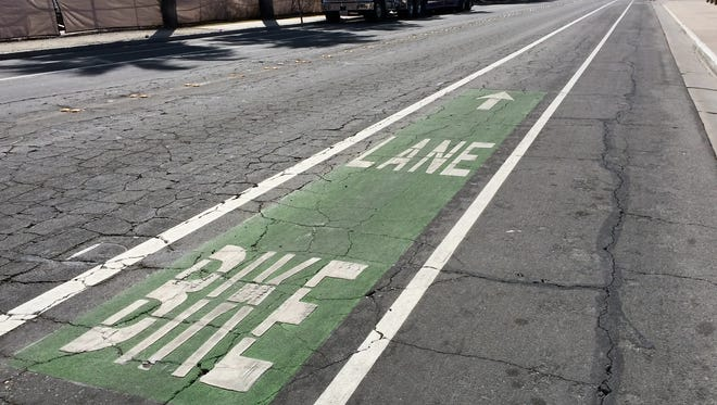 One of the proposed improvements to the roads around Palm Springs Unified School District's schools is signage for bicycle lanes.