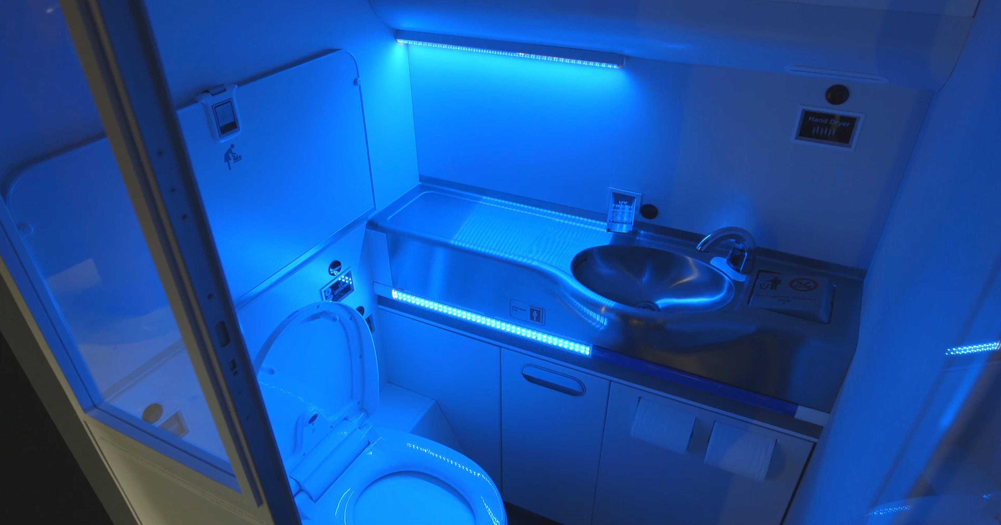 Cleaner skies? Boeing designs self-sterilizing jet bathrooms