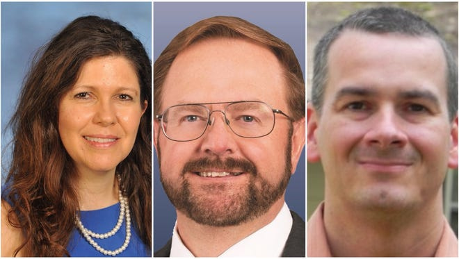 Lisa Baldwin, Chuck Edwards and Dennis Justice