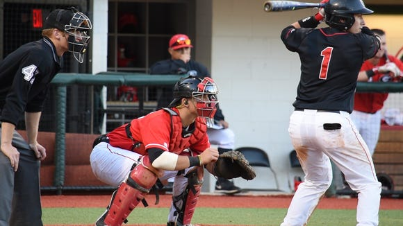 Former Murphy standout Michael Curry, left, is a freshman catcher at the University of Georgia.