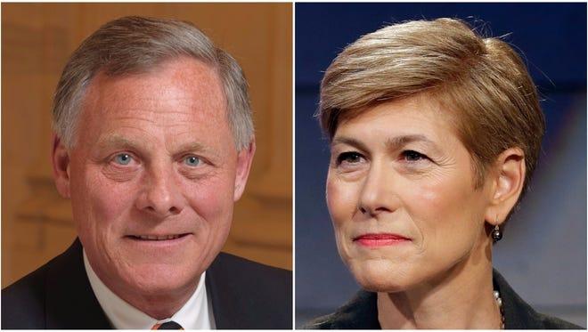 Sen. Richard Burr, left, and his Democratic challenger, Deborah Ross