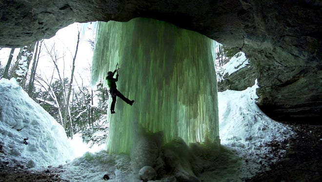 "Though ice climbing is featured prominently in ""The Michigan Ice Film,"" Aaron Peterson says:  ""I didn't really want to make a climbing movie. ... It's just a good Midwestern movie."""