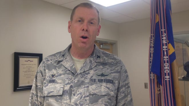 Col. Gary Kirk discusses the recent renovations.