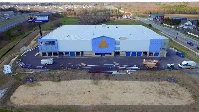 An ariel view of the new Delaware Beach Storage Center in Lewes.