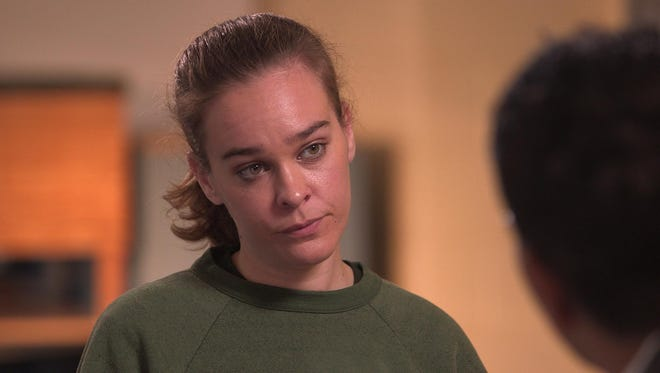 """Lacey Spears is pictured in this screen grab from a prison interview she did for the television show """"48 Hours."""" Spears was convicted last year in Westchester County of poisoning her son, Garnett, to death with salt."""