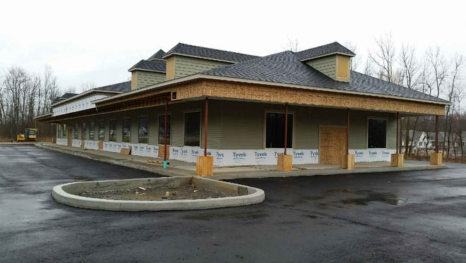 A view of the construction on Victor's newest grocery addition, Railside Market and Cafe, on Route 96.
