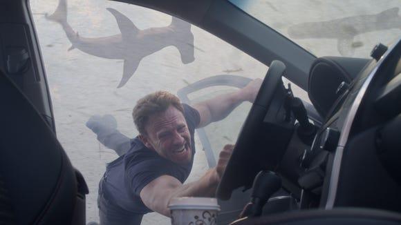 """Ian Ziering as Fin Shepard appears in a scene from """"Sharknado 3."""""""