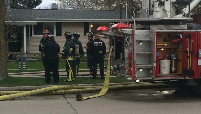 The Oshkosh Fire Department responded to a report of a house fire Sunday, May 1, 2016, in the 2000 block of Wisconsin Street. Authorities say no one was home at the time of the blaze.