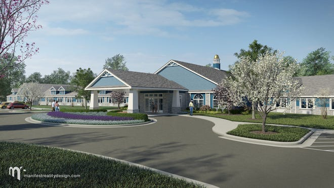 A rendering of the Nursing and Rehabilitation Center Coming  coming to 46th and Binford in 2017.