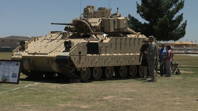 Fort Bliss and the 1st Armored Division will be showing off equipment like the Bradley Fighting Vehicle at Armed Forces Day on May 21.