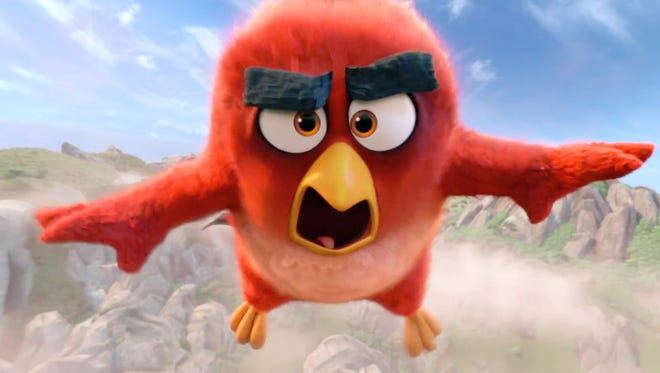 """Red is launched into action in """"The Angry Birds Movie."""""""